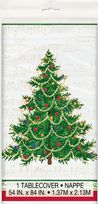 Classic Christmas Tree Plastic Tablecover